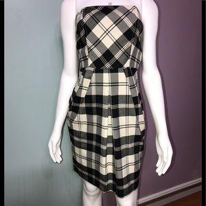 CANDIE'S • Plaid Strapless Dress/ size (3)